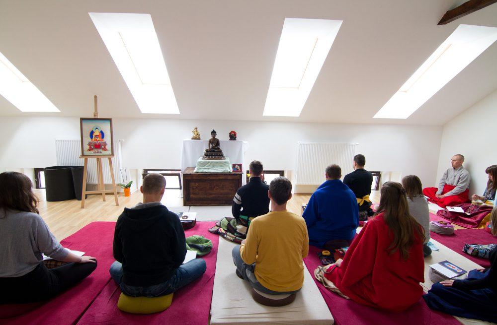 Een meditatieruimte (of gompa)
