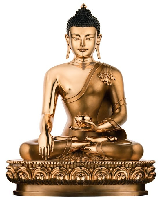 Een modern beeld van Boeddha Sakyamuni